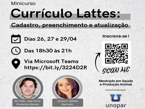 Mini-curso: Currículo Lattes